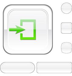 Entrance white button vector