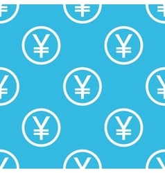 Yen sign blue pattern vector