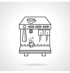 Espresso machine line icon vector