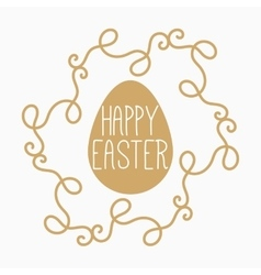 Yellow or gold easter egg vector