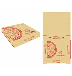 Monocolor pizza box vector
