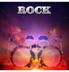Abstract music dark background with drum kit vector image