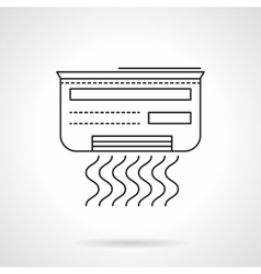 Air conditioner flat line icon vector
