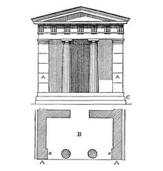 Anta doorway vintage engraving vector