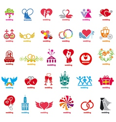 biggest collection of logos wedding vector image vector image