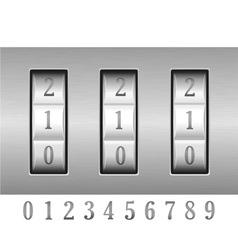 combination lock 02 vector image vector image