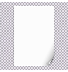 Curled Paper Corner A4 with transparent background vector image