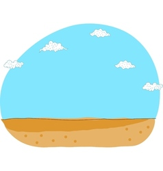 Cute Desert Landscape vector image