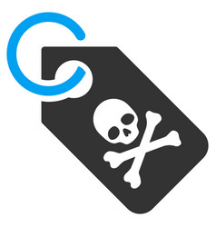 death tag flat icon vector image vector image