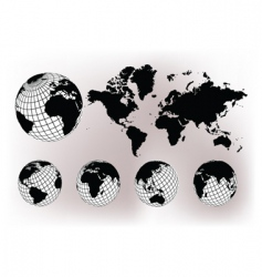 earth globes vector image