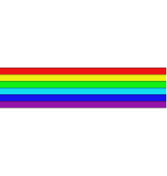 Horizontal rainbow colored stripes - graphic vector