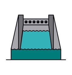 Hydropower isolated icon design vector