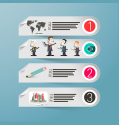 Infographics paper infographic design with people vector