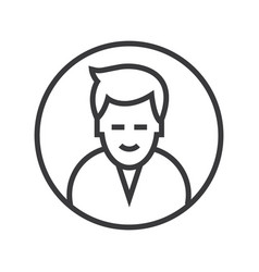 man circle avatar line icon sig vector image vector image