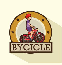 Modern bike shop logo vector