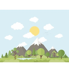 Mountain nature vector image