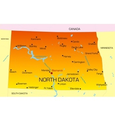 North Dakota vector image