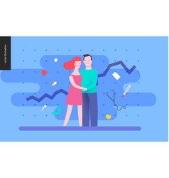 Reproduction - a couple planning a baby vector