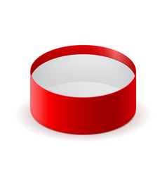 round open box red box vector image vector image