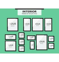 Set from wall pictures in flat style vector image vector image