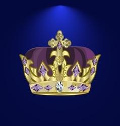 Tiara with precious stones 5 vector