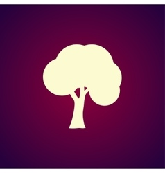 trees icons Flat design style vector image vector image