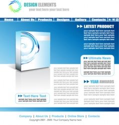 web site elegant template vector image vector image