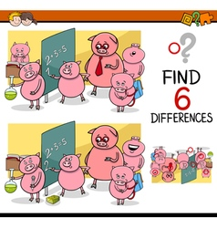 Differences game for children vector