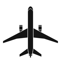 Plane icon simple style vector image