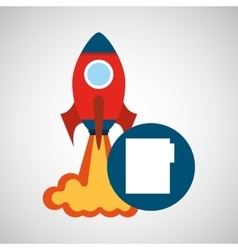 Rocket launch start up business file graphic vector