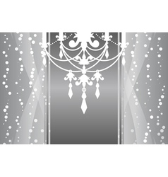 silver frame chandelier vector image