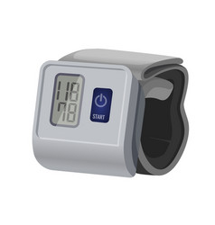 Sphygmomanometer blood pressure meter with vector