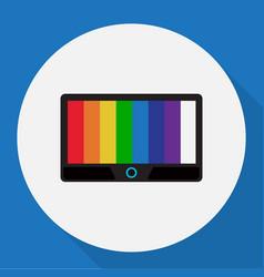 Of tech symbol on tv flat icon vector
