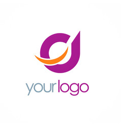 Round loop abstract logo vector