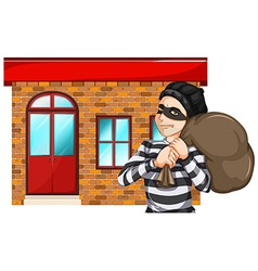 A man robbing the building vector
