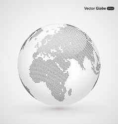Abstract dotted globe central heating view on vector
