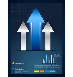 Rising arrow infographic template vector