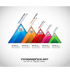 Modern abstract infographic template to display vector
