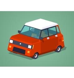 Modern red hatchback vector image