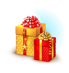 Christmas boxes vector