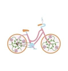 Vintage old bike vector