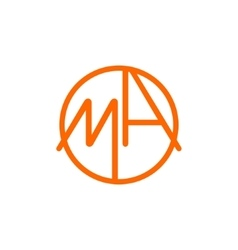 Logo m and a vector