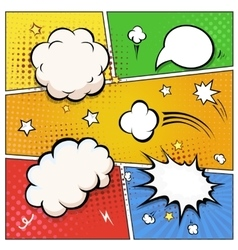 Comic book speech bubbles a set of colourful and vector