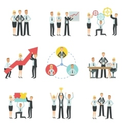Business Team Working Together Achievement Process vector image