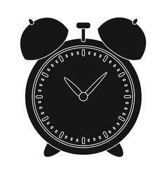 alarm clock for early wake up to school watch so vector image