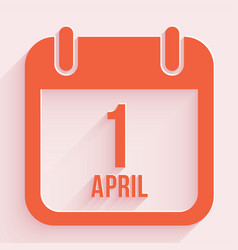 April fools day 1 april calendar background vector