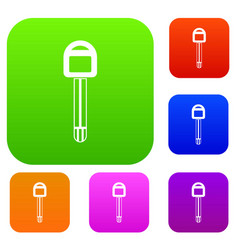 Car key set collection vector