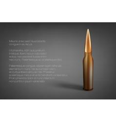 Cartridge the bullet vector