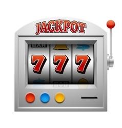 Casino slot gambling machine lucky and win vector