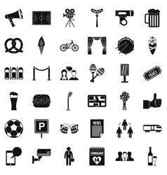 Development icons set simple style vector